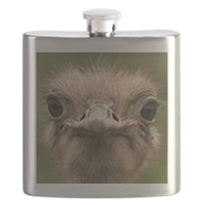 Ostrich portrait Flask