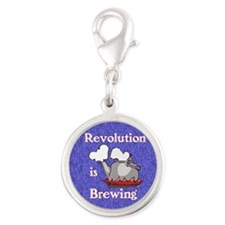 Revolution is Brewing (Blue Ci Silver Round Charm