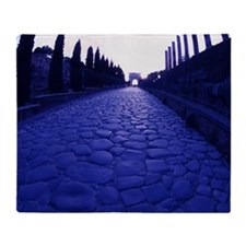 SACRED WAY ROAD, ROME, ITALY Throw Blanket