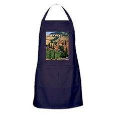 WINDING ROAD ON HILL, TUSCANY, ITALY Apron (dark)