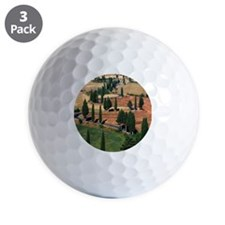 WINDING ROAD ON HILL, TUSCANY, ITALY Golf Ball