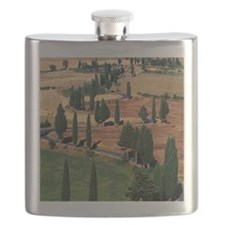 WINDING ROAD ON HILL, TUSCANY, ITALY Flask
