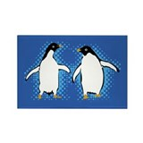 Dancing Penguins Rectangle Magnet (10 pack)