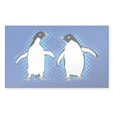 Dancing Penguins Rectangle Decal
