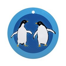 Dancing Penguins Ornament (Round)