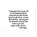 Mark Twain Postcards (Package of 8)