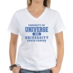 Universe University Women's V-Neck T-Shirt