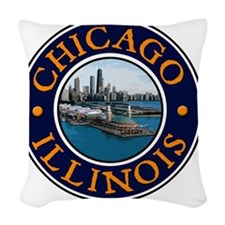 Chicago, IL Woven Throw Pillow