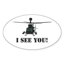 I See You! Oval Decal