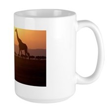 GIRAFFE AND WILDEBEEST, SILHOUETTE Mug