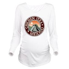 Chichen Itza Long Sleeve Maternity T-Shirt