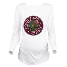 Hong Kong Long Sleeve Maternity T-Shirt