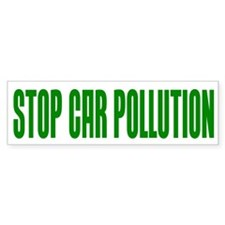 Car Pollution Bumper Bumper Sticker