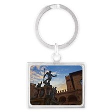 The Fountain of Neptune in Bolo Landscape Keychain