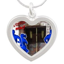 Tower of Terror Weekend Logo Silver Heart Necklace