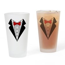 Tuxedo Drinking Glass