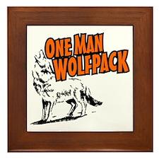 One Man Wolfpack Framed Tile