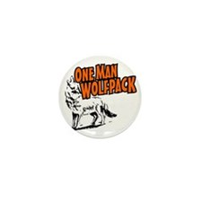 One Man Wolfpack Mini Button