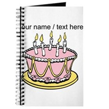 Custom Pink Birthday Cake Journal