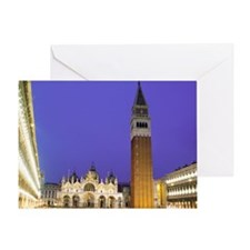 Italy, Venice, Saint Mark's Square,  Greeting Card