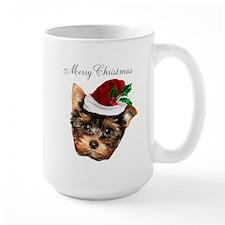Merry Christmas Yorkshire Terrier Mugs