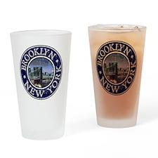 Brooklyn, NY - Distressed Drinking Glass