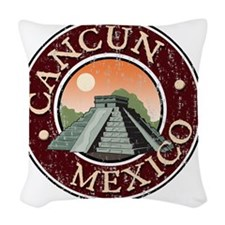 Cancun, Mexico - Distressed Woven Throw Pillow