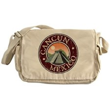 Cancun, Mexico - Distressed Messenger Bag