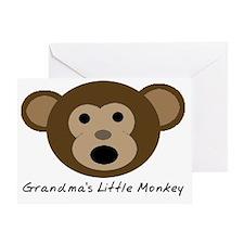 Grandmas Little Monkey Greeting Card