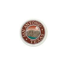 San Antonio, TX - Distressed Mini Button