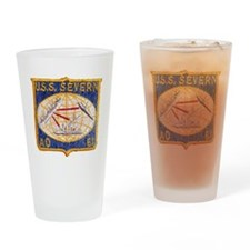 uss severn patch transparent Drinking Glass