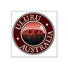 "Uluru - Australia Square Sticker 3"" x 3"""