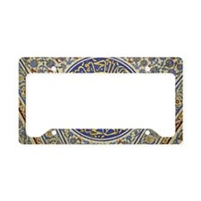 Detail in a mosque License Plate Holder