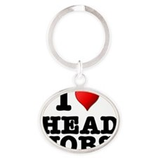 I LOVE - HEAD JOBS Oval Keychain