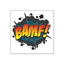 "BAMF Square Sticker 3"" x 3"""