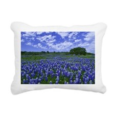 Field of Bluebonnets Rectangular Canvas Pillow