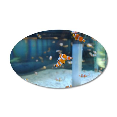 Little Fishy 35x21 Oval Wall Decal