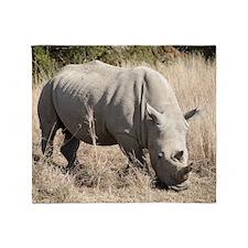 White Rhino Throw Blanket