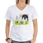 Porcelain d'Uccle Rooster and Women's V-Neck T-Shi