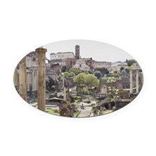 Roman Forum Oval Car Magnet