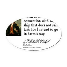John Paul Jones - Harms Way Oval Car Magnet