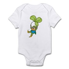 Leprachaun With Clover Infant Bodysuit