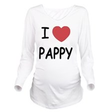 I heart pappy Long Sleeve Maternity T-Shirt