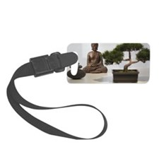 Buddha, Bonsai and Stack of Pebb Luggage Tag