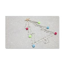 Beach drawing of Christmas tree Car Magnet 20 x 12