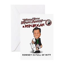 Romney is Full of Mitt Greeting Card