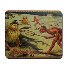 Vintage Halloween Devil Mousepad