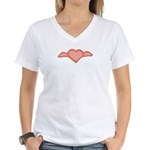 Winged Heart Women's V-Neck T-Shirt