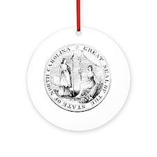 North Carolina State Seal Round Ornament
