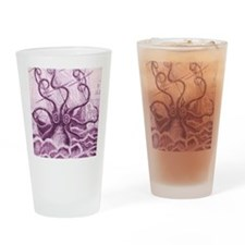 Purple Kraken Drinking Glass